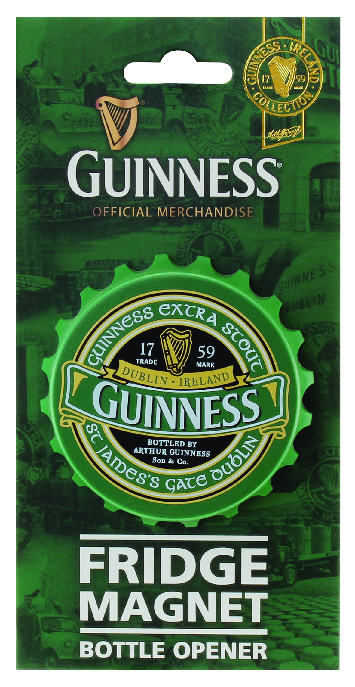 Guinness® Green Collection Fridge Magnet Bottle Opener