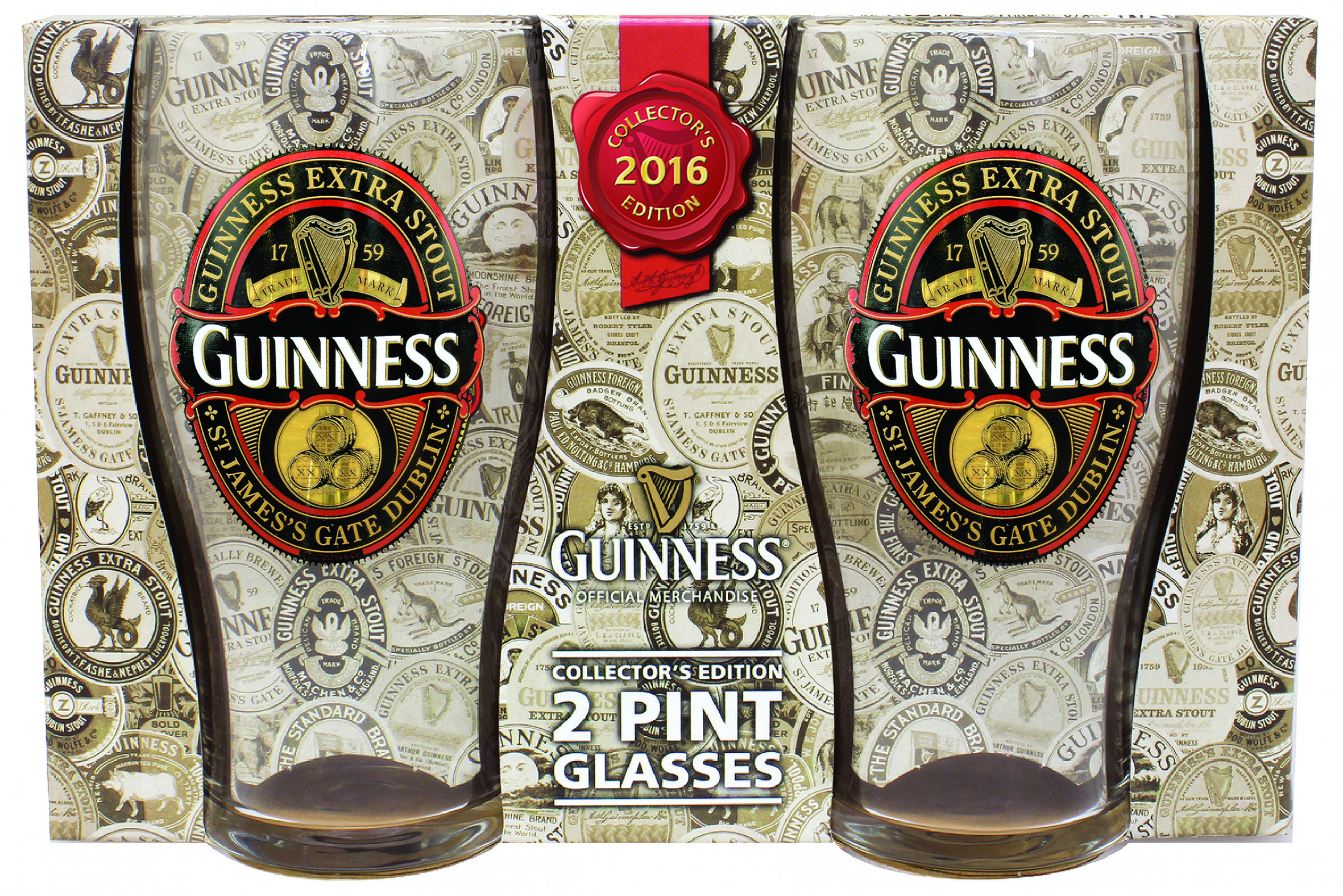GUINNESS® 2016 LIMITED EDITION GLASS SET OF 2