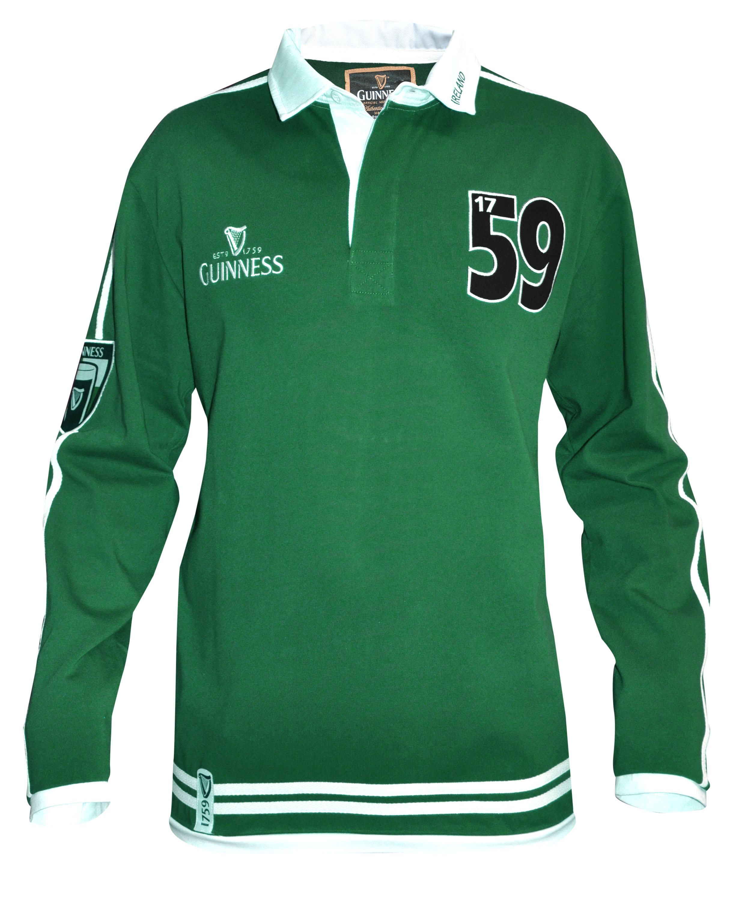 Traditional Arthur Guinness® Signature Green Rugby Jersey