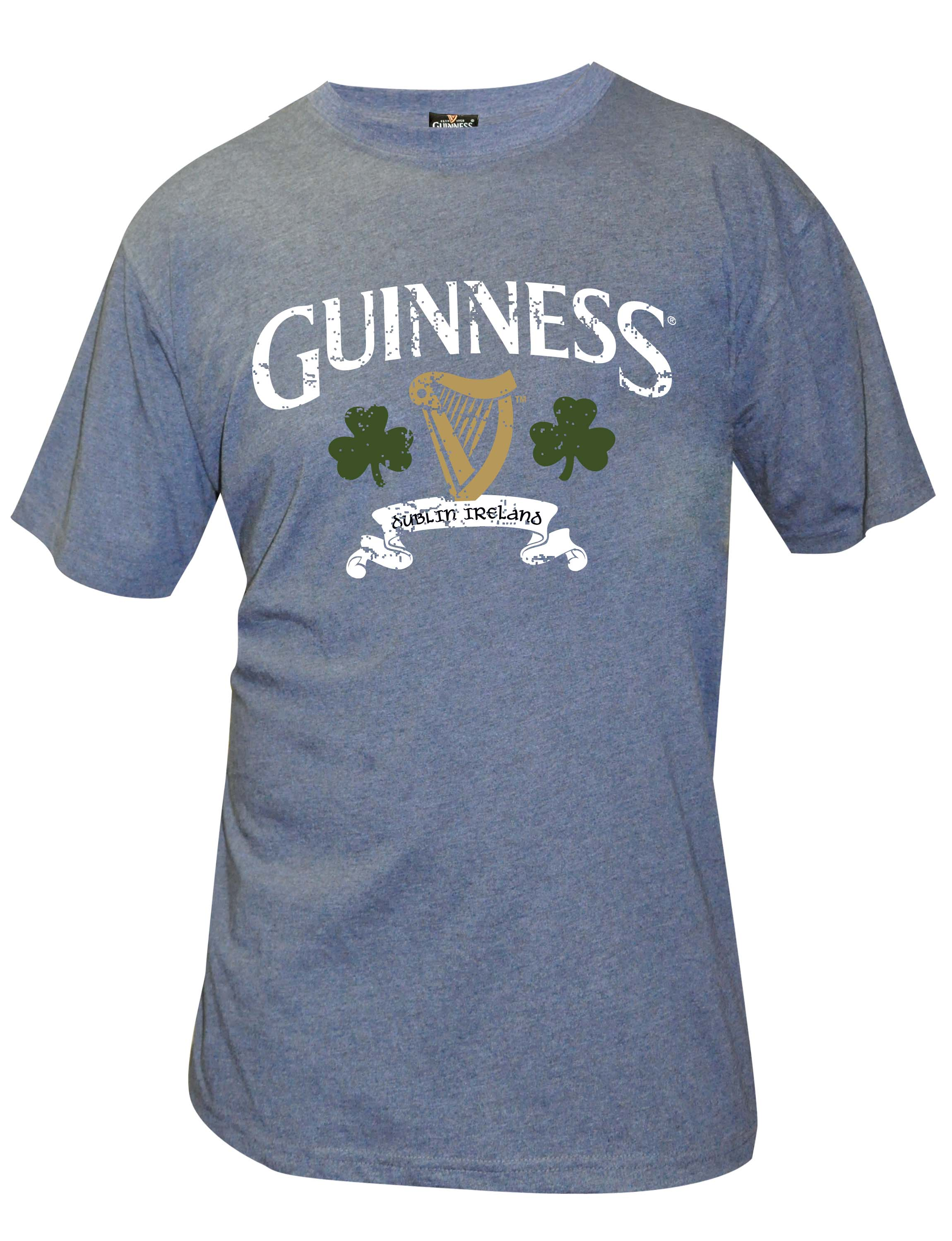 Guinness® Navy Distressed T-Shirt