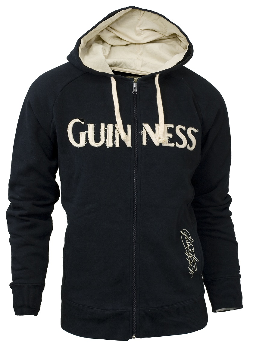 Guinness® Distressed Zip Hoodie