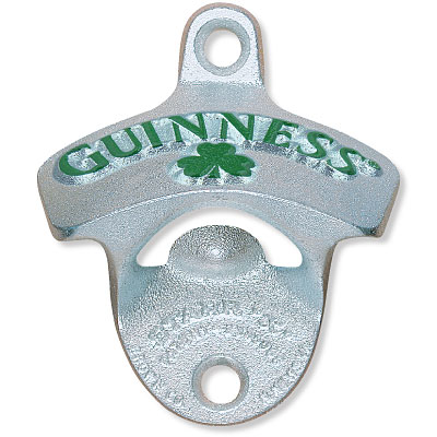 GUINNESS® SHAMROCK WALL MOUNT BOTTLE OPENER