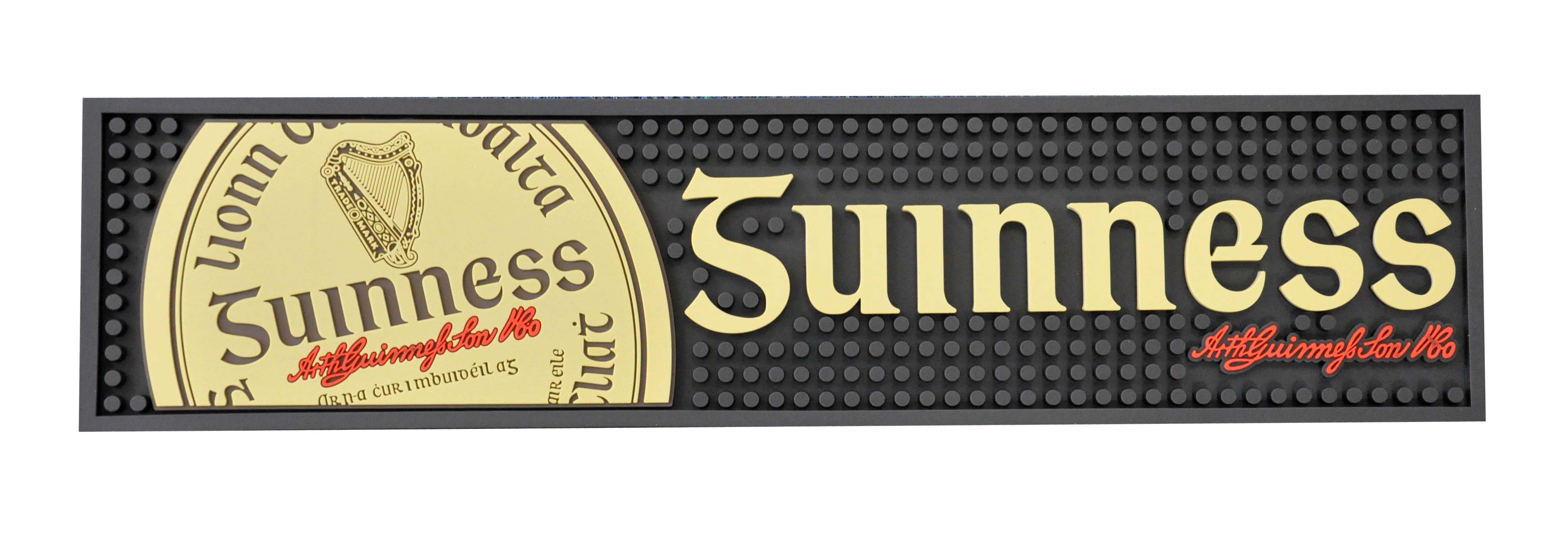 Guinness PVC Gaelic Label Bar Mat