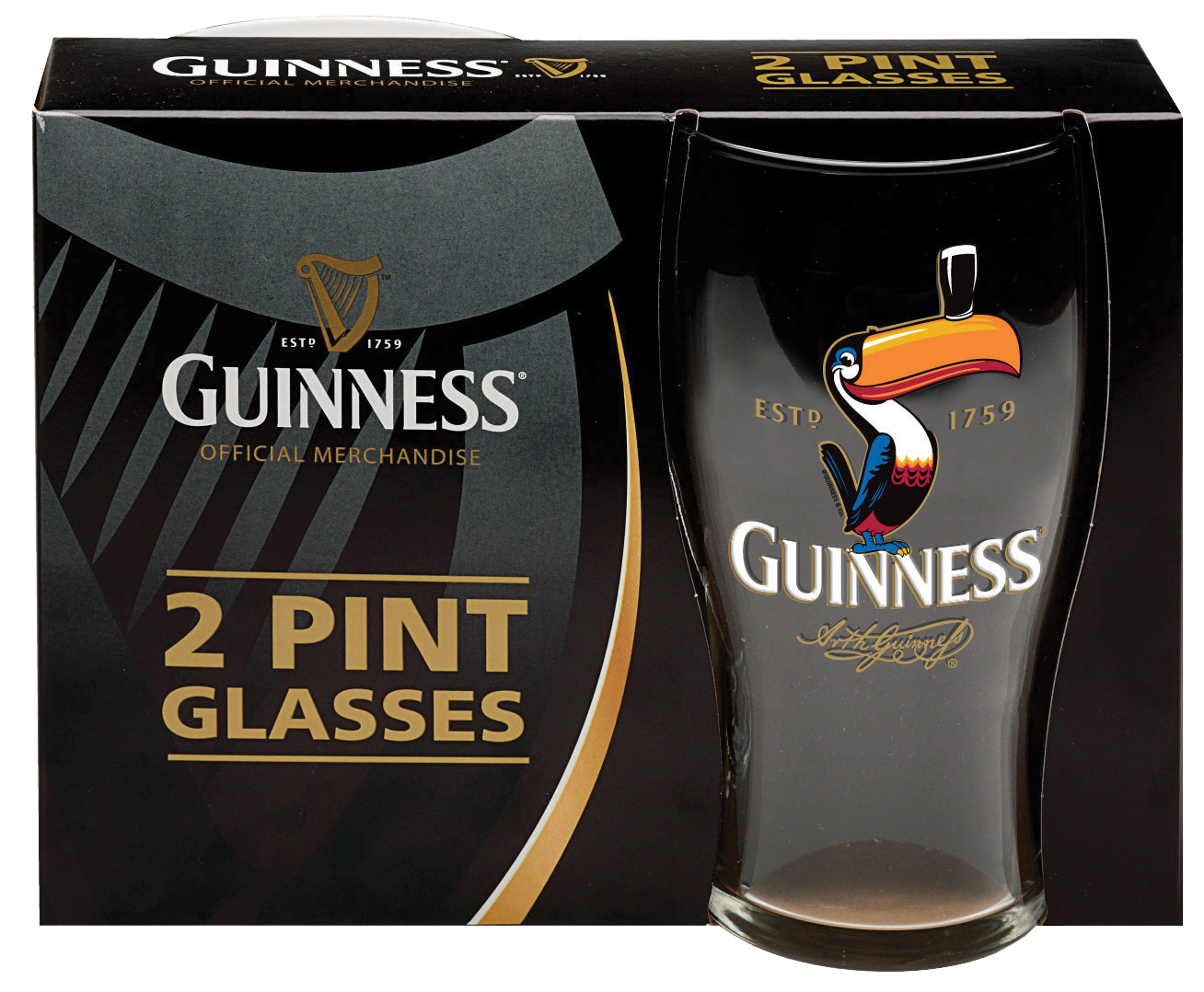 Toucan Pint Glass Set