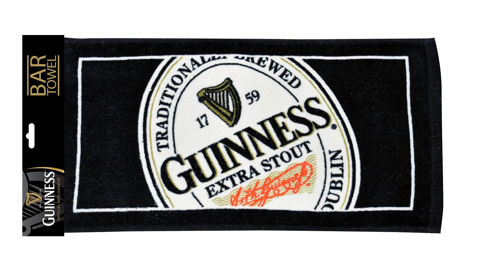 Guinness® English Label Bar Towel