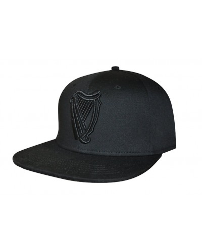 2eb33d560 GUINNESS® MEN'S MONOCHROMATIC RAISED EMBROIDERED HARP LOGO FLAT PEAK  BASEBALL HAT